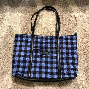 NWOT Vera Bradley blue plaid laptop tote bag